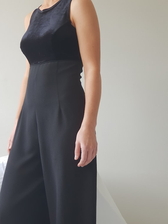 Vintage 90s Black Crepe Jumpsuit by Etsy