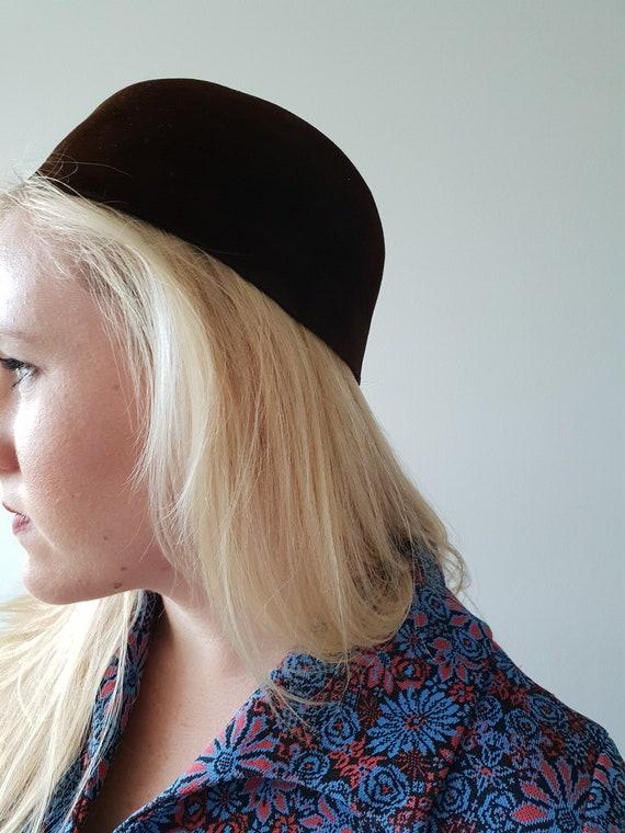 Vintage Brown Women's Calot Hat