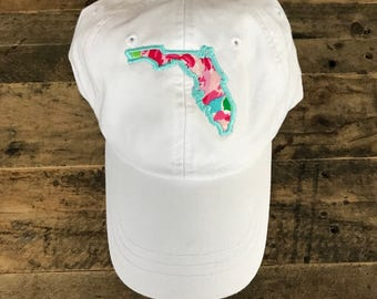 a5362cba36f Florida State Hat - Lilly Pulitzer Inspired State Hat