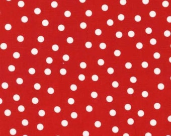Robert Kaufman Fabric Anne Kelle Remix Red Small Polka Dots - One Yard