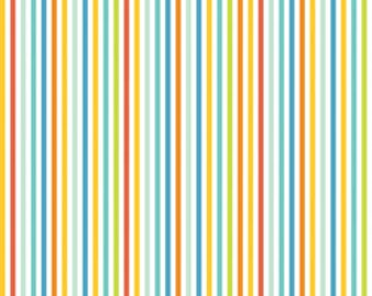 Blend Fabrics Alfie and Bettie Candy Stripes Blue - 1 Yard