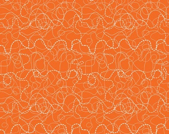 Riley Blake Fabric Treasure Map Treasure Search Orange - One Yard - Boy Pirate