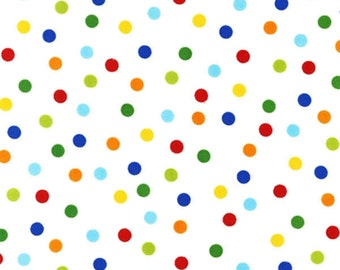 Robert Kaufman Fabric Anne Kelle Remix Primary Small Polka Dots - One Yard