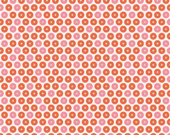 Riley Blake Fabric So Happy Together Happy Dot Pink - One Yard - Pink Red Dot