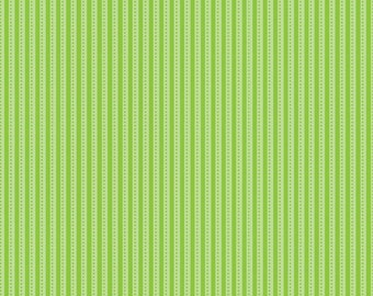 Riley Blake Fabric Santa Express Santa Stripe Green - 1 Yard