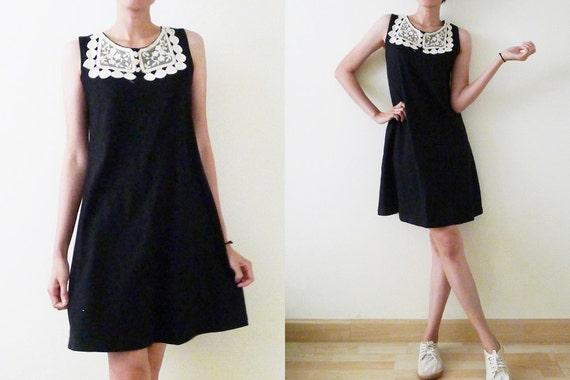 b05473bd018e 100% thick cotton plain black   blue sleeveless mini