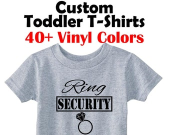 ac8ec1fd Ring Security Toddler T-Shirt Custom Toddler Shirts Funny T Shirts Kids  Custom Kids Shirts Kids T Shirts Funny Kids Clothes Custom Kids