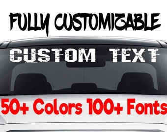 184de19b52 Custom Windshield Decals Word and Number Car Truck Window Custom Stickers  Windshield Decal Custom Car Decal Company Name Decals Personalized