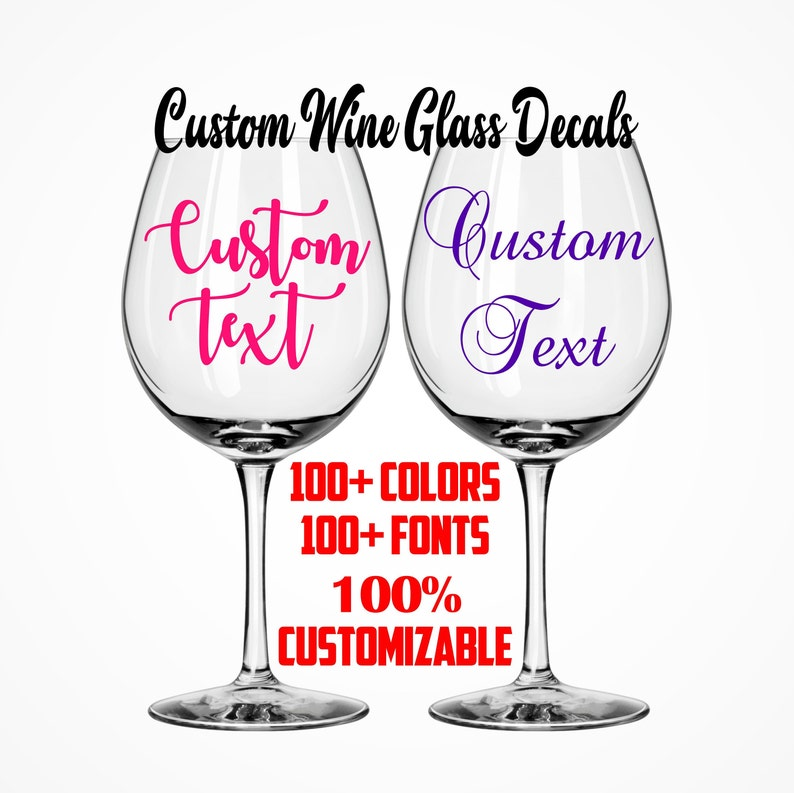 fc72bb9fba0 Custom Wine Glass Decals Bachelorette Party Custom Decal image 0 ...