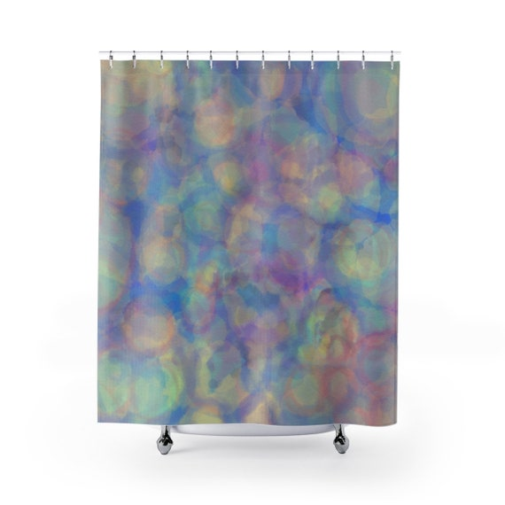Pastel Watercolor Shower Curtain Print From Hand Painted