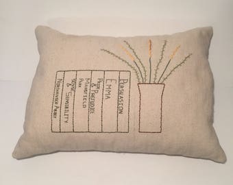 Jane Austen Throw Pillow