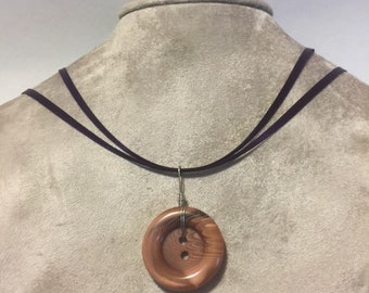 Button Charm Necklace