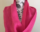 Light and Lacy Handwoven Summer Cotton Scarf Clear Pink