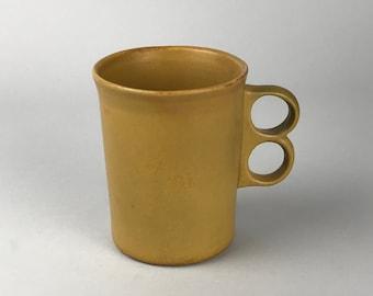Vintage Mid-Century Modern Golden Brown Bennington Trigger Mug