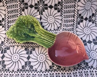 Vintage radish bowl