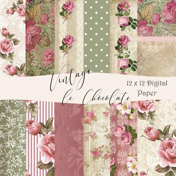 Lace paper Summer paper Rose digital paper Watercolor rose Roses digital paper Wedding Shabby chic Floral digital paper