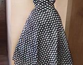 Polka Dots Pin Up Corset Plus Size Rockabilly 50s Dress