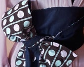 Denim and polka dots 2 sides Wide Waist Belt