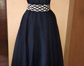 Denim with Polka Dots Rockabilly Pin Up Corset Plus Size Dress