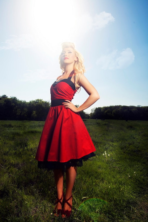 Red Bridesmaids Corset Dress Plus Size Corset Dress Rockabilly Etsy