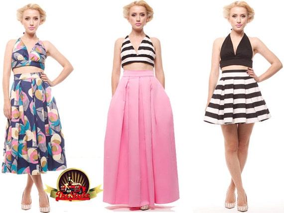 Jupe longue rose plissée jupe jupe longue jupe Maxi étage Longueur jupe taille haute jupe jupe d'été en partie jupe de demoiselle d'honneur jupe