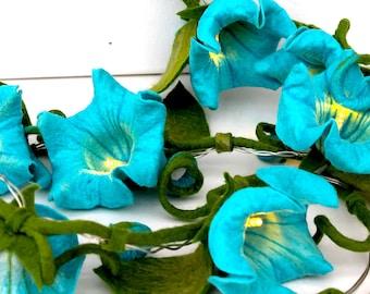 Fairy lights handmade flowered flowers