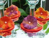 Felt charms, set of 4, with coasters