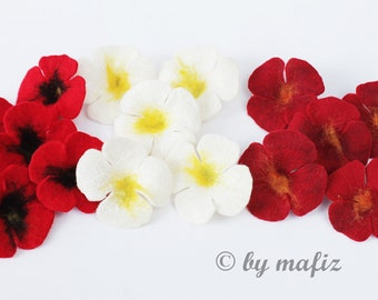 15 x flowers Poppies colorful for crafting and decorating, for the home, as a patch for clothes, as an application for curtains, for shirts