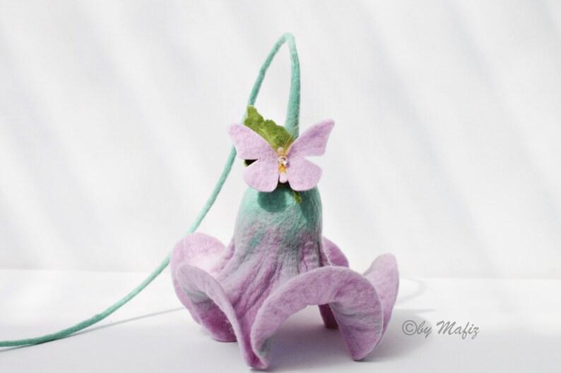 Geburtstag Blüte In Lila Mit Schmetterling Deko Für Die Etsy