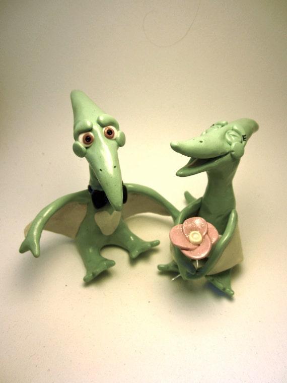 Pterodactyl Dinosaur Bride and Groom Custom Animal Wedding   Etsy