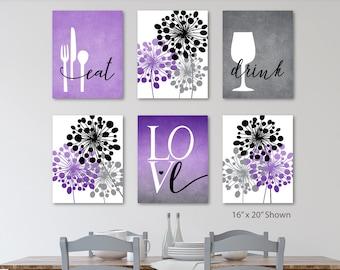 Purple Kitchen Decor Etsy
