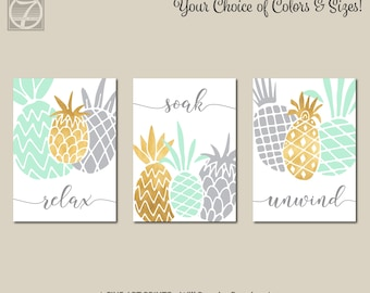 Pineapple bathroom  Etsy