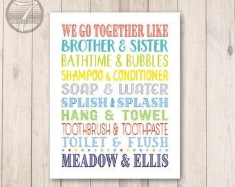 Kids Bathroom Quotes Etsy