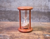 Vintage Teak Hourglass Timer Teak and Glass Hourglass Time Out Timer