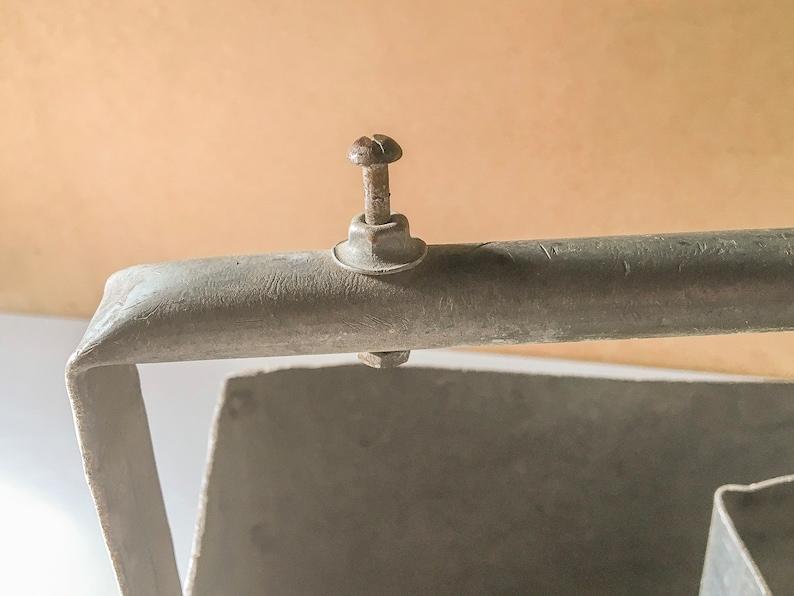 Gro\u00dfe Retro-Kasten rustikal bemalte Speicherung Taube Schwanz Ecken Land Dekor rustikal Northwoods Dekor Foto-St\u00fctze Aufbewahrung im Freien