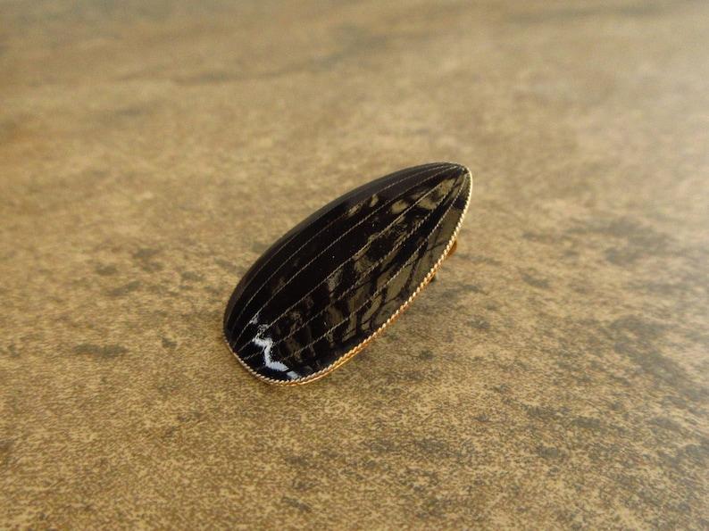 1970s Cloisonn\u00e9 Enamel Teardrop Shield Japanese Family Crest Sterling Silver 24k Gold Wash Pierced Earrings Vintage Laurel Inc