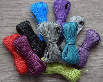 Linhasita 398 Waxed Cord Macrame Cord 0.5mm Pale Turquoise 20 meters Jewelry Cord DreamCatchers String Braided Bracelet Thread