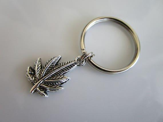 Ton weed charme - vestes sacs à main - weed du porte-clé porte-clé - weed charme tirette - stoner - hachage breloque pour fermeture éclair - weed breloque en argent