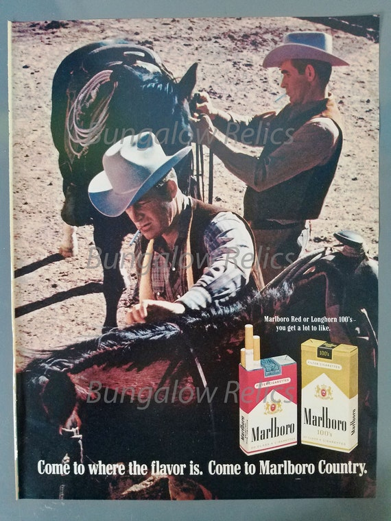 YOUR CHOICE Cowboys Horses! Combined Shipping MARLBORO Magazine Print Ads