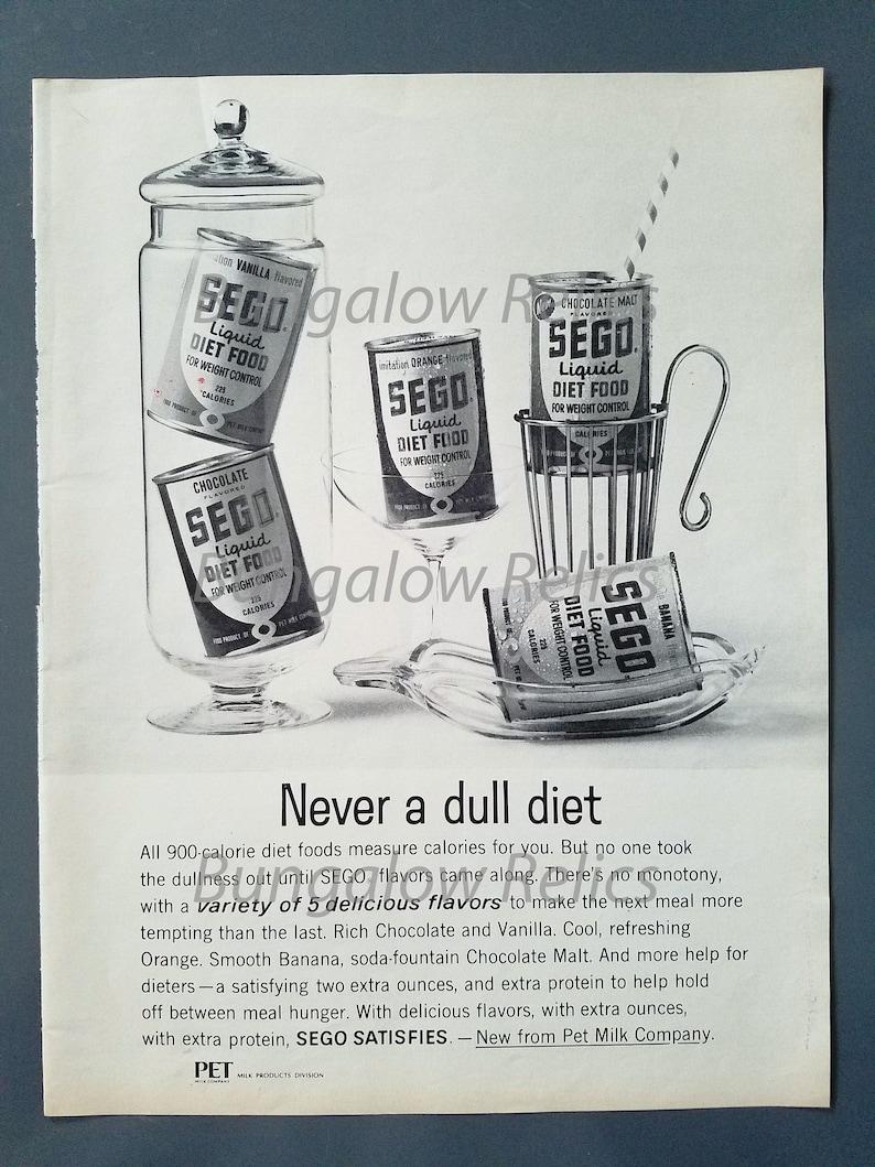 1963 SEGO Pet Milk Diet Food Original Vtg 1960s Magazine Print Ad Advertising