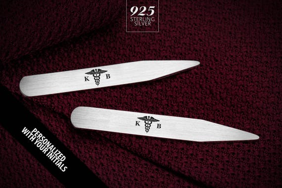2.5 Inch Metal Collar Stiffeners MODERN GOODS SHOP Stainless Steel Collar Stays With Laser Engraved The Office Design Made In USA
