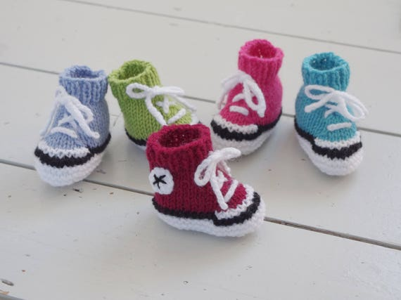 Easy Simple Baby Booties Knitting Pattern Instructions Etsy
