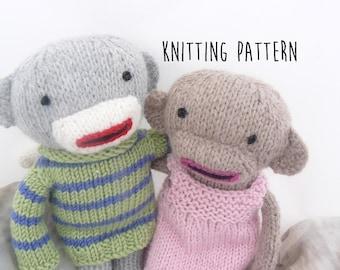 Knitting pattern for sock monkeys