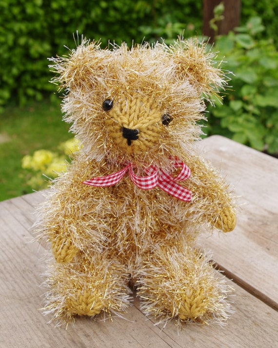 Easy Christmas Teddy Bear Toy Gift Knitting Pattern King Cole Etsy