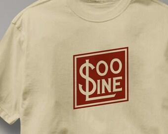f033bab60 Soo Line Railway T Shirt Vintage Logo Railroad Train Tee Shirt Mens Womens  Ladies Youth Kids