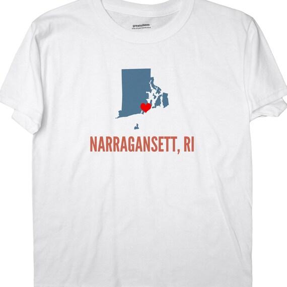 I Love Rhode Island T-Shirt Heart RI Womens