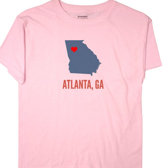 Made in GA Georgia Map Flag Atlanta Global Vity Home of Youth/&Kids T-Shirt
