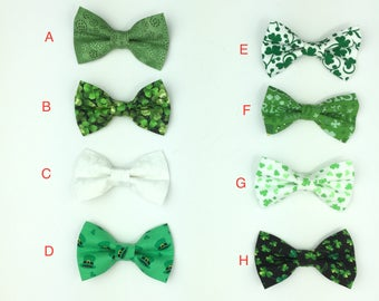 HAPPY STPATRICK/'S DAY  Bow Tie Clip On Irish Bow Tie Mens or Boys Bow Tie