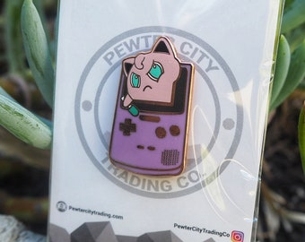 Im Stuck! Jigglypuff in Gameboy Pokemon Inspired Hard Enamel Pin | Hand Made Pin | Pokemon Pin
