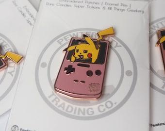 Im Stuck! Pikachu in Gameboy Pokemon Inspired Hard Enamel Pin | Hand Made Pin | Pokemon Pin